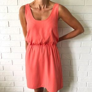 J. CREW coral sleeveless knee length tank dress 2